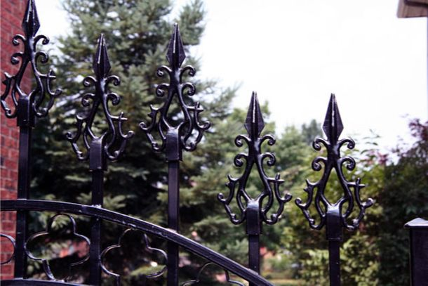 Wrought Iron Gate Close up